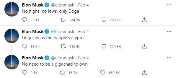Elon Musk Tweet's DOGE
